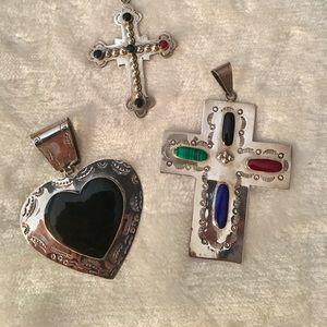 Jewelry - Sterling Silver Pendants Set of 4